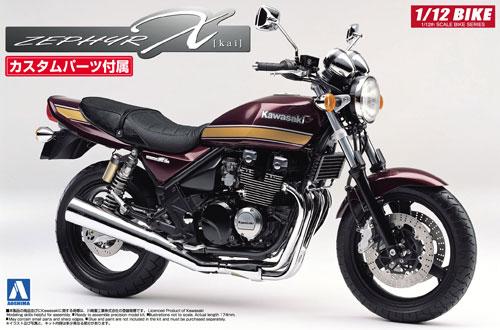 カワサキ ゼファーχ カスタムパーツ付きプラモデル(アオシマ1/12 バイクNo.016)商品画像