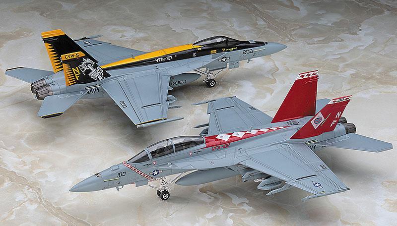 F/A-18E/F スーパーホーネット USS ロナルド レーガン CVW-5 CAG スペシャルパック Part 1プラモデル(ハセガワ1/72 飛行機 限定生産No.SP341)商品画像_2
