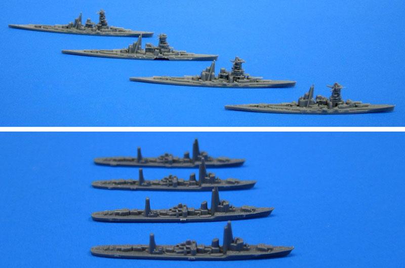 戦艦 金剛・比叡・榛名・霧島 / 駆逐艦 白露型 4隻セットプラモデル(フジミ集める軍艦シリーズNo.001)商品画像_2