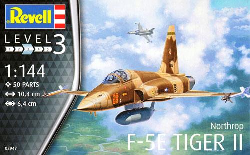 F-5E タイガー 2プラモデル(レベル1/144 飛行機No.03947)商品画像