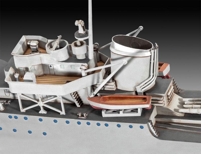 ドイツ駆逐艦 Type1936プラモデル(レベル1/350 艦船モデルNo.05141)商品画像_3