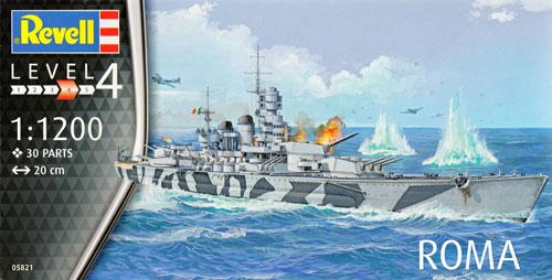 イタリア海軍 戦艦 ローマプラモデル(レベルShips(艦船関係モデル)No.05821)商品画像