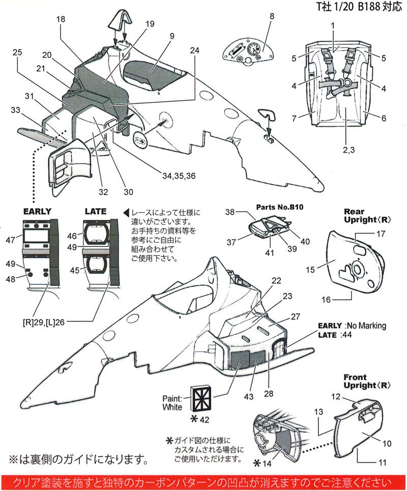 ベネトン B188 カーボンデカールデカール(スタジオ27F1 カーボンデカールNo.CD20034)商品画像_1