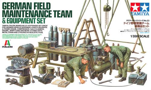 ドイツ野戦整備チーム 装備品セットプラモデル(タミヤタミヤ イタレリ シリーズNo.37023)商品画像