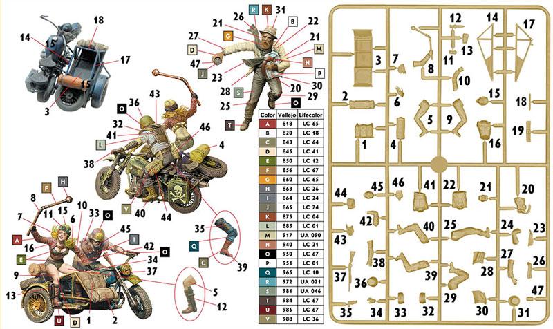 Skull Clan - 盗人を捕らえろ (デザートバトルシリーズ)プラモデル(マスターボックス1/35 ミリタリーミニチュアNo.MB35140)商品画像_1