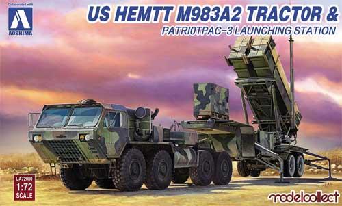 アメリカ HEMTT M983A2 & パトリオット PAC-3 発射機プラモデル(モデルコレクト1/72 AFV キットNo.UA72080)商品画像