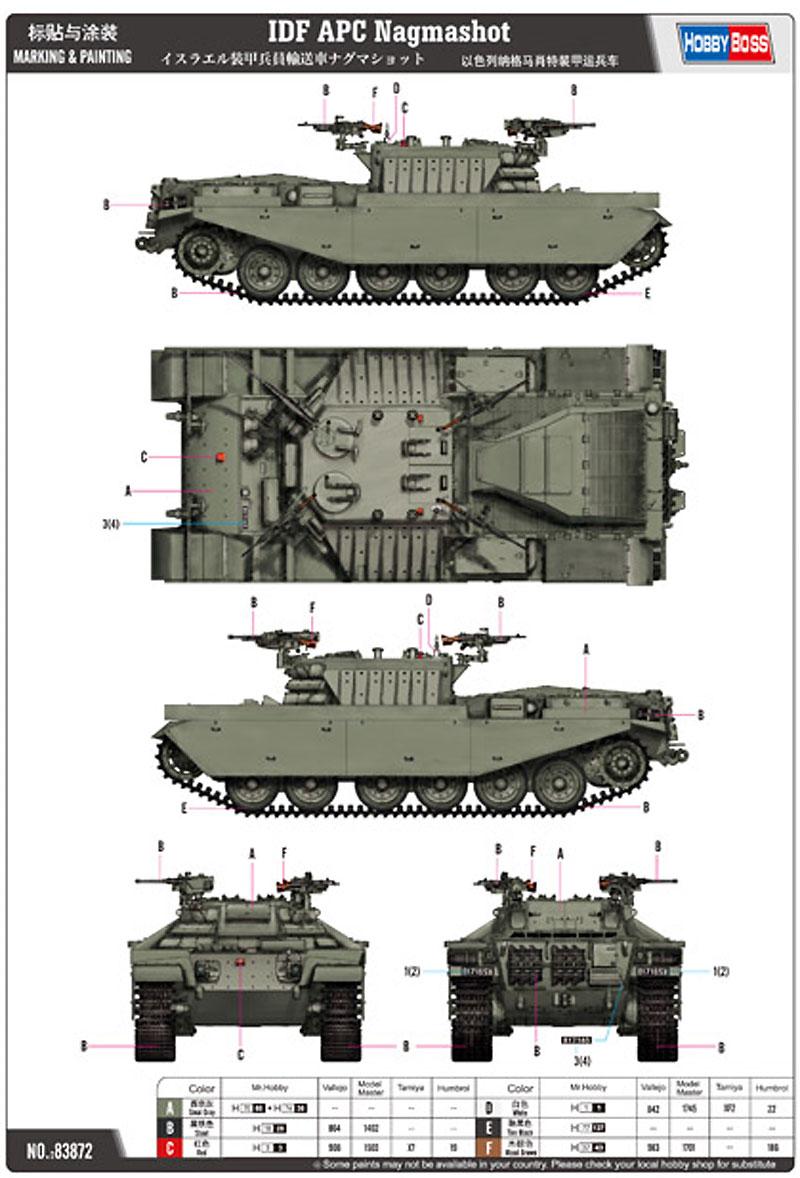 イスラエル 装甲兵員輸送車 ナグマショットプラモデル(ホビーボス1/35 ファイティングビークル シリーズNo.83872)商品画像_1