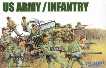 アメリカ陸軍歩兵セットプラモデル(フジミ1/76 ワールドアーマーシリーズNo.WA-027)商品画像