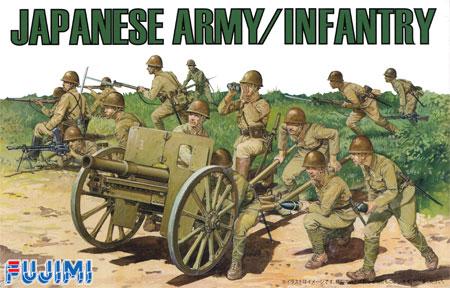 日本陸軍歩兵セットプラモデル(フジミ1/76 ワールドアーマーシリーズNo.WA-030)商品画像