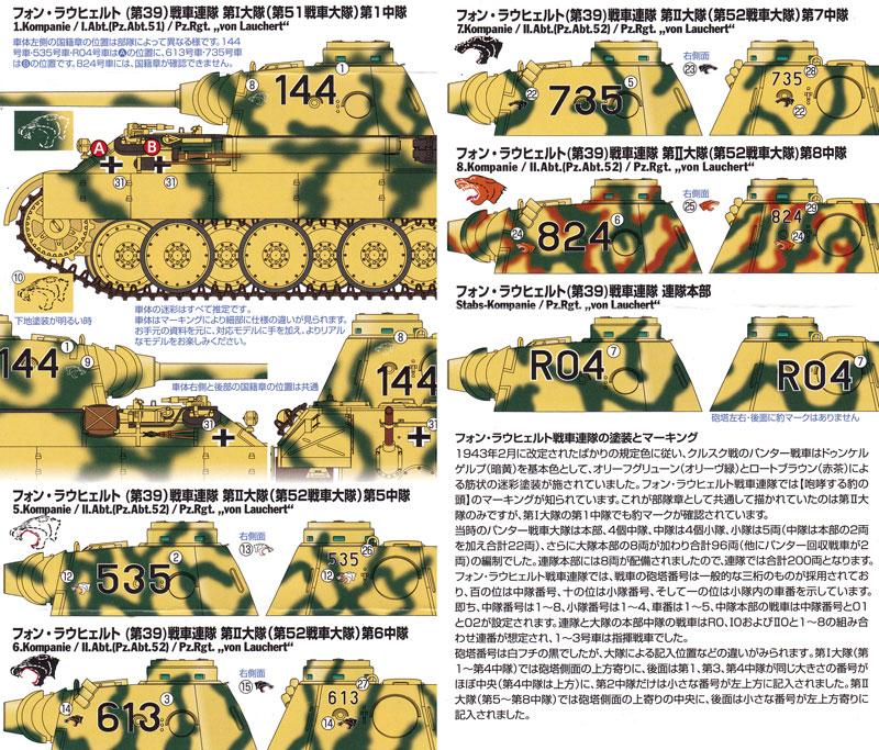 ドイツ戦車 パンサーD型 / クルスク戦線 デカールセットデカール(トワイライトモデルデカールNo.TM-003)商品画像_2