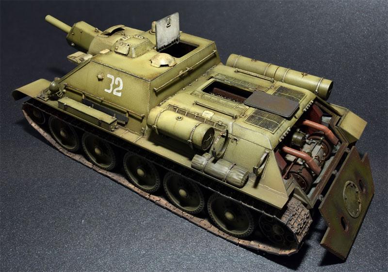 SU-122 極初期生産型 フルインテリアプラモデル(ミニアート1/35 WW2 ミリタリーミニチュアNo.35175)商品画像_3