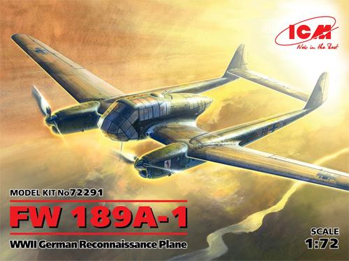 フォッケウルフ Fw189A-1プラモデル(ICM1/72 エアクラフト プラモデルNo.72291)商品画像
