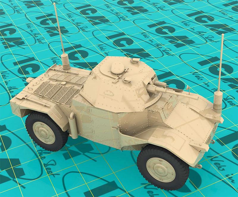 パナール 178 AMD-35 装甲指揮車プラモデル(ICM1/35 ミリタリービークル・フィギュアNo.35375)商品画像_3