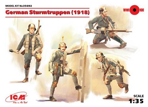 ドイツ 突撃部隊 (1918)プラモデル(ICM1/35 ミリタリービークル・フィギュアNo.35692)商品画像