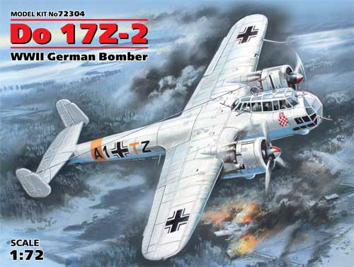 ドルニエ Do17Z-2 爆撃機プラモデル(ICM1/72 エアクラフト プラモデルNo.72304)商品画像