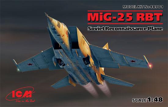 MiG-25 RBTプラモデル(ICM1/48 エアクラフト プラモデルNo.48901)商品画像