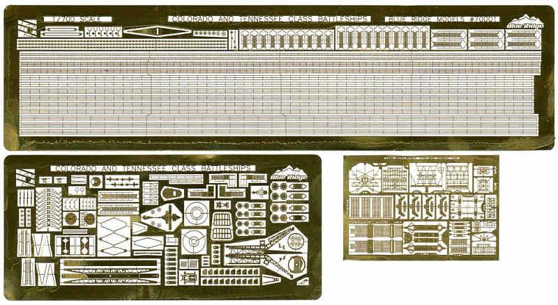 WW2 米海軍 戦艦 ウェスト・ヴァージニア 1945用エッチング(トムスモデル1/700 艦船用エッチングパーツシリーズNo.PE-324)商品画像_1