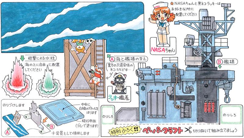 カワイイ!ネコの飛行甲板 (ネコ14匹入り)プラモデル(SWEET1/144スケールキットNo.038)商品画像_1