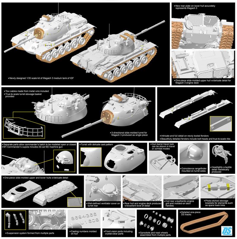 イスラエル国防軍 IDF マガフ3プラモデル(ドラゴン1/35 MIDDLE EAST WAR SERIESNo.3567)商品画像_3