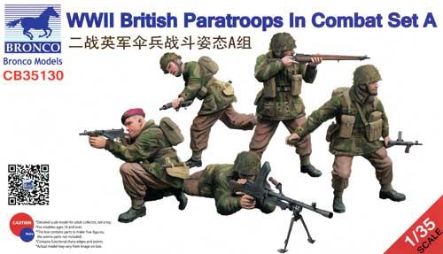 イギリス 空挺部隊兵士 戦闘シーン Aプラモデル(ブロンコモデル1/35 AFVモデルNo.CB35130)商品画像