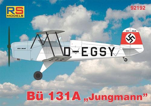 ビュッカー Bu131A ユングマンプラモデル(RSモデル1/72 エアクラフト プラモデルNo.92192)商品画像