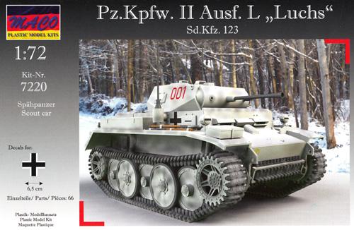 ドイツ Pz.Kpfw.2 Ausf.L ルクス 偵察戦車プラモデル(マコ1/72 AFVキットNo.7220)商品画像