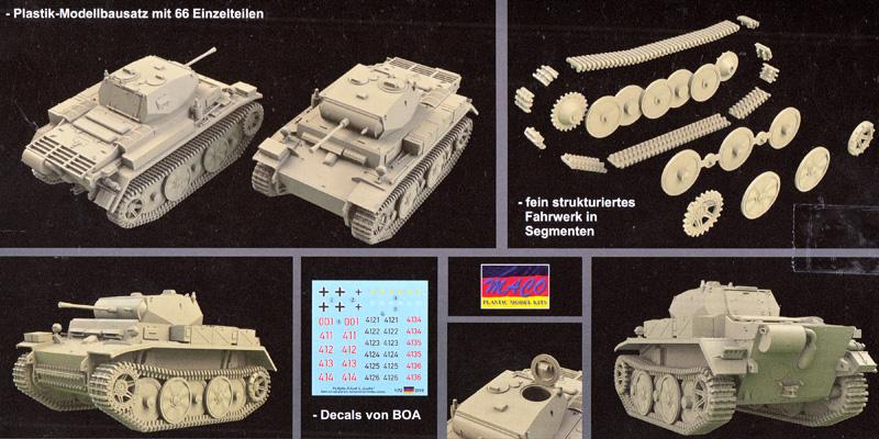 ドイツ Pz.Kpfw.2 Ausf.L ルクス 偵察戦車プラモデル(マコ1/72 AFVキットNo.7220)商品画像_1