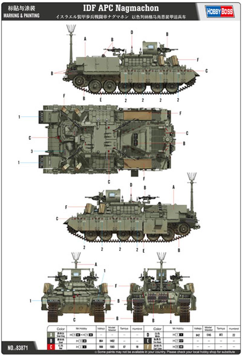 イスラエル 装甲歩兵戦闘車 ナグマホンプラモデル(ホビーボス1/35 ファイティングビークル シリーズNo.83871)商品画像_1
