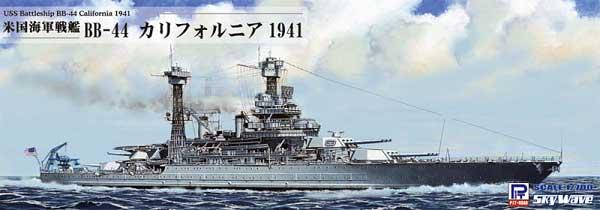 米国海軍 戦艦 BB-44 カリフォルニア 1941プラモデル(ピットロード1/700 スカイウェーブ W シリーズNo.W187)商品画像