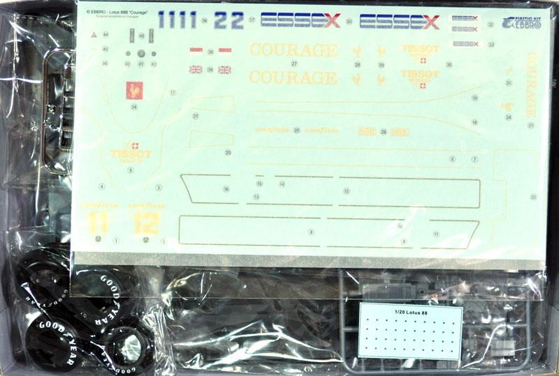 チーム ロータス Type88B (1981)プラモデル(エブロ1/20 MASTER SERIES F-1No.010)商品画像_1