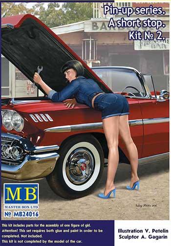 ショートストップ No.2 (ジーンズウェア+ベースボールキャップ)プラモデル(マスターボックスピンナップ (Pin-up)No.MB24016)商品画像