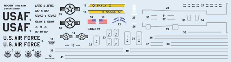 ロッキード C-141B スターリフター 戦略輸送機プラモデル(ローデン1/144 エアクラフトNo.325)商品画像_1
