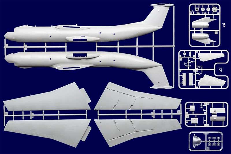 ロッキード C-141B スターリフター 戦略輸送機プラモデル(ローデン1/144 エアクラフトNo.325)商品画像_2