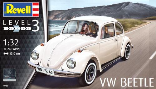 VW ビートルプラモデル(レベル1/32など カーモデルNo.07681)商品画像