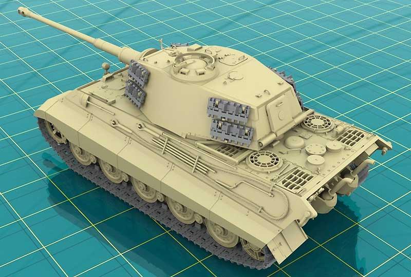Pz.Kpfw.6 Ausf.B ケーニッヒス・ティーガー ヘンシェル砲塔 後期型プラモデル(ICM1/35 ミリタリービークル・フィギュアNo.35363)商品画像_3