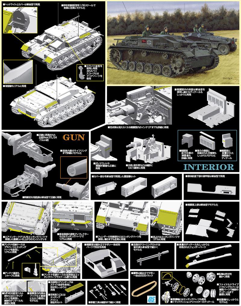 ドイツ 3号突撃砲 E型プラモデル(ドラゴン1/35 '39-'45 SeriesNo.6688)商品画像_4