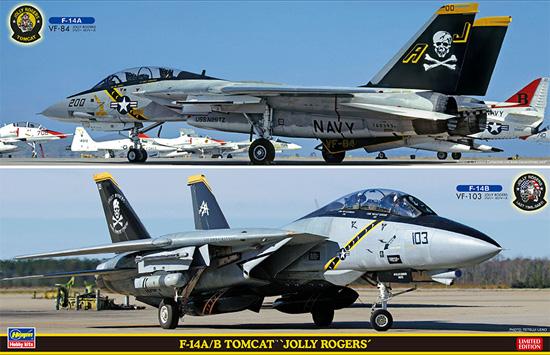 F-14A/B トムキャット ジョリーロジャース (2機セット)プラモデル(ハセガワ1/72 飛行機 限定生産No.SP346)商品画像