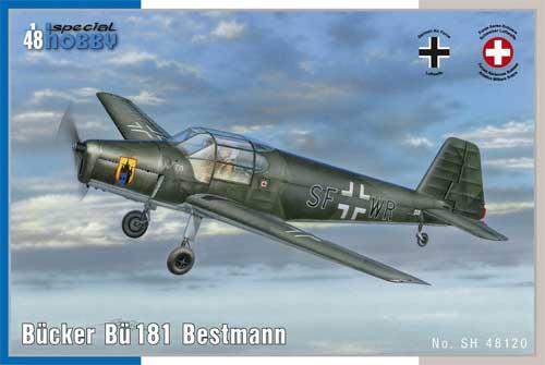 ビュッカー Bu181 ベストマン 初等練習機プラモデル(スペシャルホビー1/48 エアクラフト プラモデルNo.SH48120)商品画像