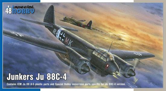 ユンカース Ju88C-4 夜間戦闘機プラモデル(スペシャルホビー1/48 エアクラフト プラモデルNo.SH48177)商品画像