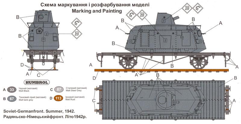 ドイツ DTR 装甲列車 鉄道貨車搭載型プラモデル(ユニモデル1/72 AFVキットNo.667)商品画像_1