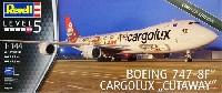 レベル1/144 旅客機ボーイング 747-8F カーゴルクス cutaway