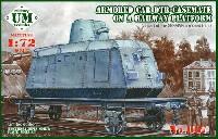 ユニモデル1/72 AFVキットドイツ DTR 装甲列車 鉄道貨車搭載型