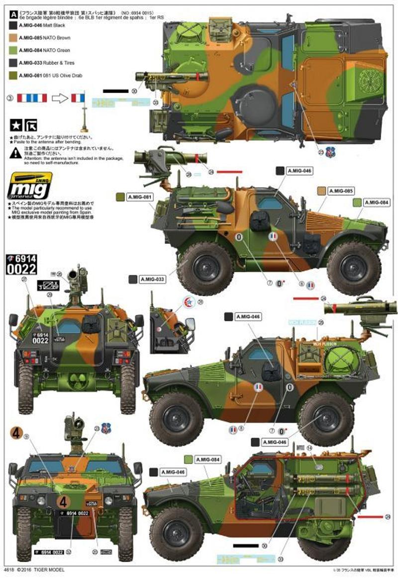 パナール VBL ミラン ミサイル搭載型プラモデル(タイガーモデル1/35 AFVNo.4618)商品画像_2