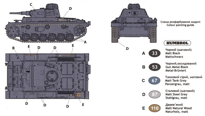 ドイツ 3号戦車 H型プラモデル(ユニモデル1/72 AFVキットNo.270)商品画像_1