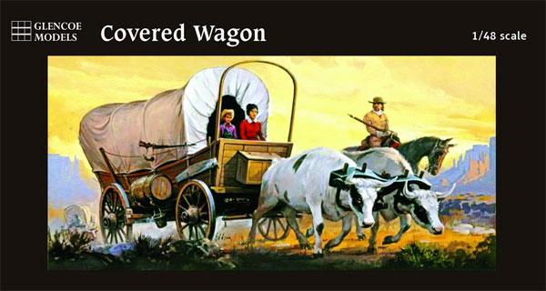 カバードワゴン (幌牛車)プラモデル(グレンコモデルプラスチックモデル組立キットNo.05402)商品画像
