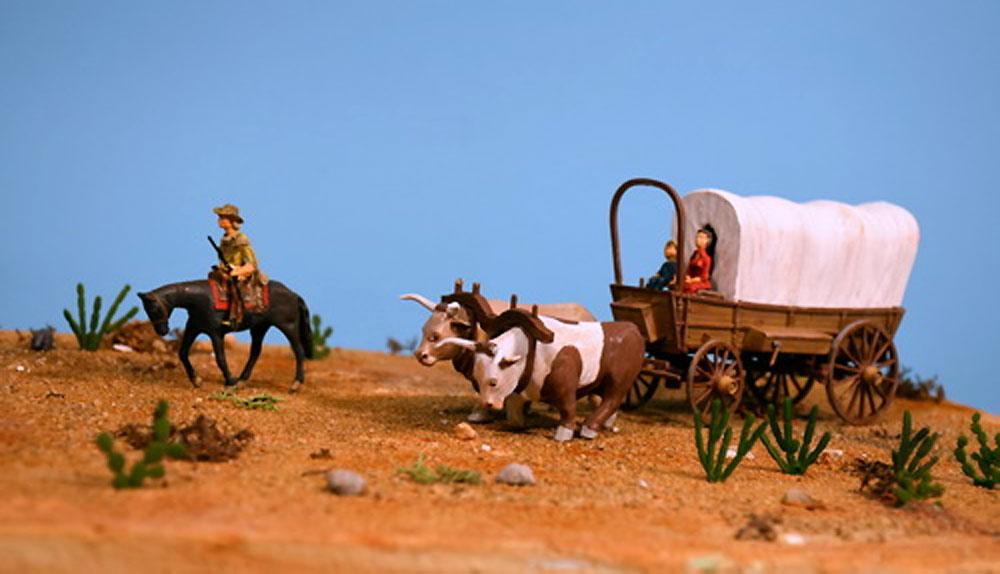 カバードワゴン (幌牛車)プラモデル(グレンコモデルプラスチックモデル組立キットNo.05402)商品画像_3