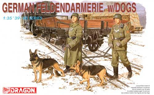 ドイツ 野戦憲兵 w/軍用犬プラモデル(ドラゴン1/35