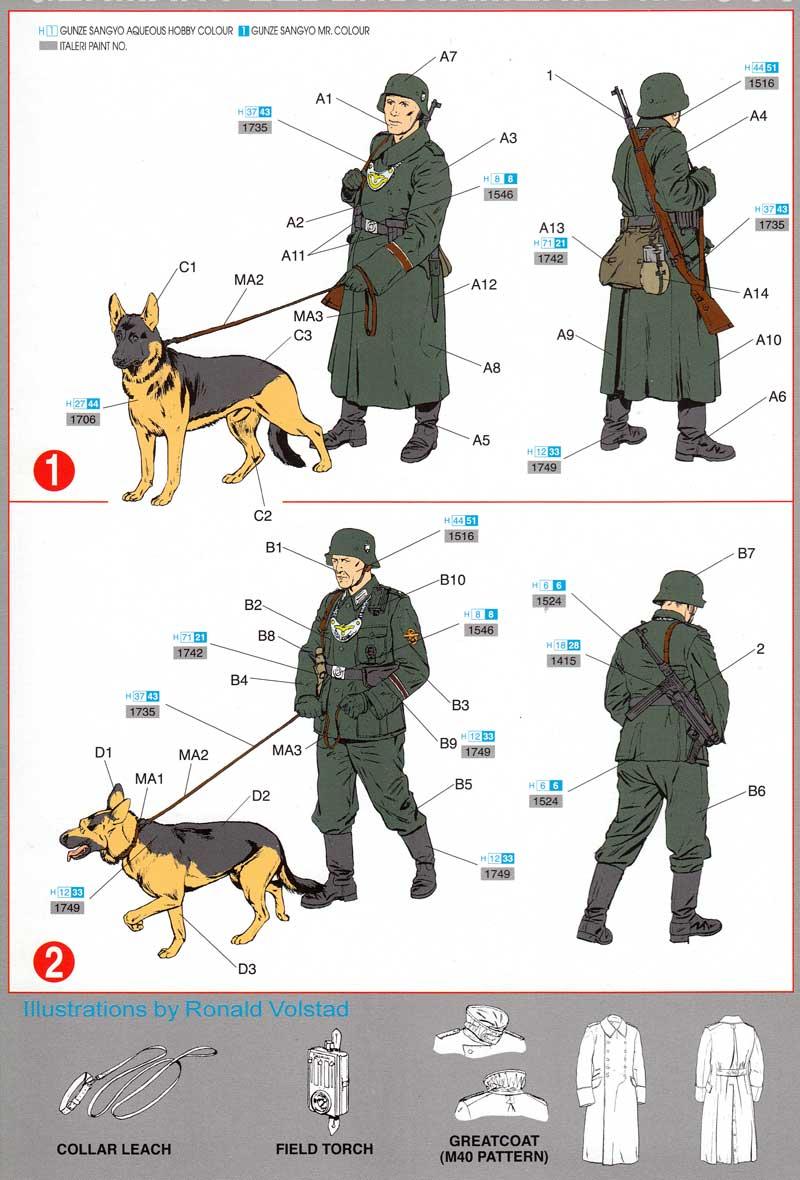 ドイツ 野戦憲兵 w/軍用犬プラモデル(ドラゴン1/35 '39-'45 SeriesNo.6098)商品画像_1