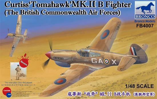 カーチス トマホーク Mk.2B 戦闘機プラモデル(ブロンコモデル1/48 エアクラフト プラモデルNo.FB4007)商品画像
