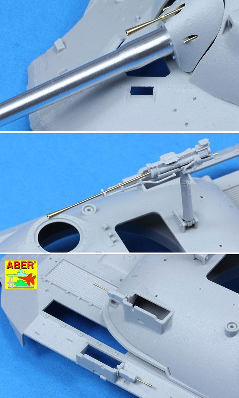 ソビエト JS-7 超重戦車砲身 & 銃身 (短マズルブレーキ付) (トランペッター用)メタル(アベール1/35 AFV用 砲身パーツNo.35L-185)商品画像_4